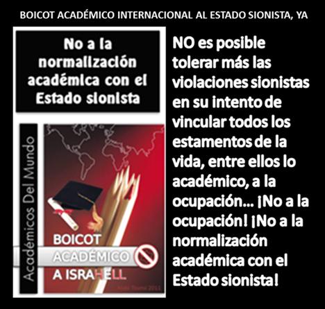 BOICOT ACADÉMICO INTERNACIONAL