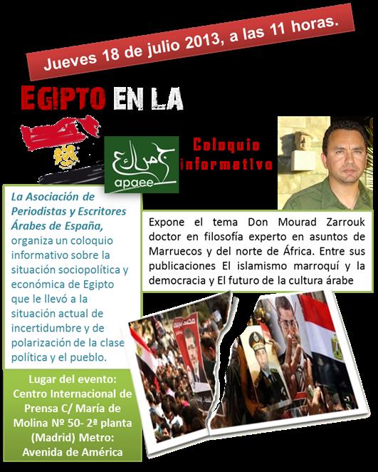 Coloquio informativo sobre Egipto med
