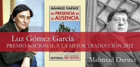 Luz Gómez premio nacional a la mejor traducción 2012