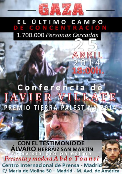 Cartel conferencia Javier Villate