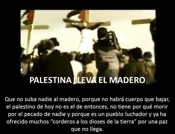 PALESTINA LLEVA EL MADERO