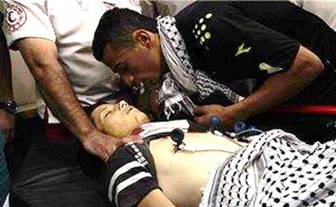 Esta mañana (20/6/2014) ha sido asesinado el niño Mohamad Dodin de 15 años a manos del ¡valiente ejército sionista! de ocupación en el pueblo da Dora al Este de Hebrón.