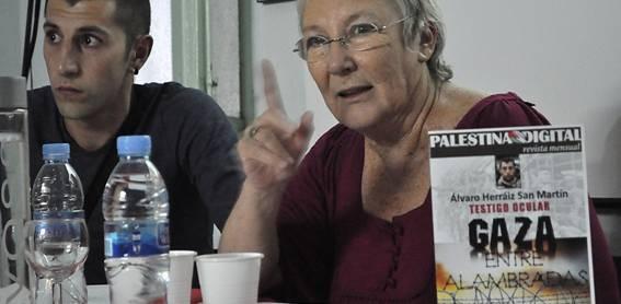 Teresa Aranguren expuso una pincelada de recuerdos para Palestina