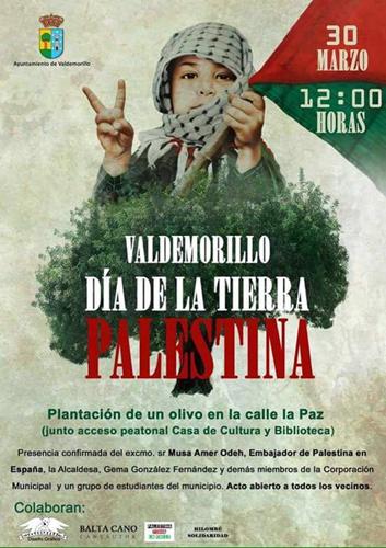 cartel Dia de la tierra palestina 31-03-2016 Valdemorillo